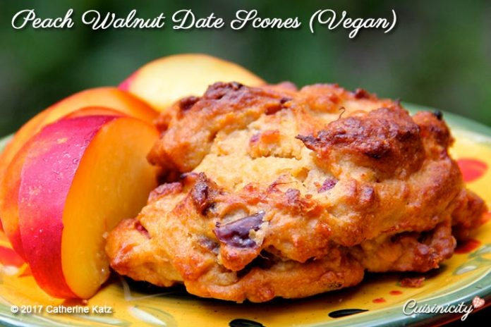 Peach Walnut Date Scones 2