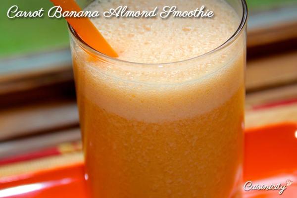Carrot Banana Almond Smoothie 2