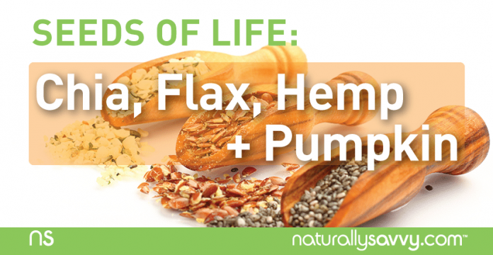 Seeds of Life: Chia, Flax, Hemp & Pumpkin