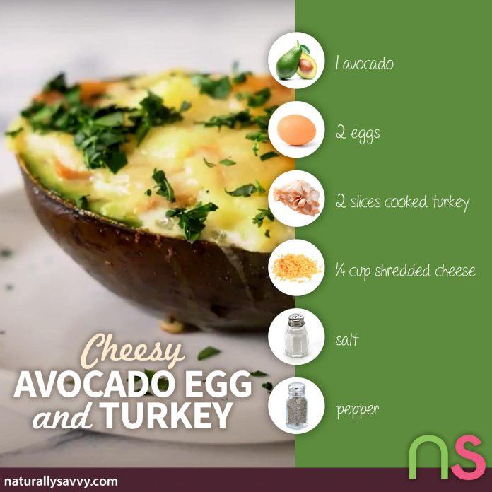 Cheesy Avocado Egg and Turkey