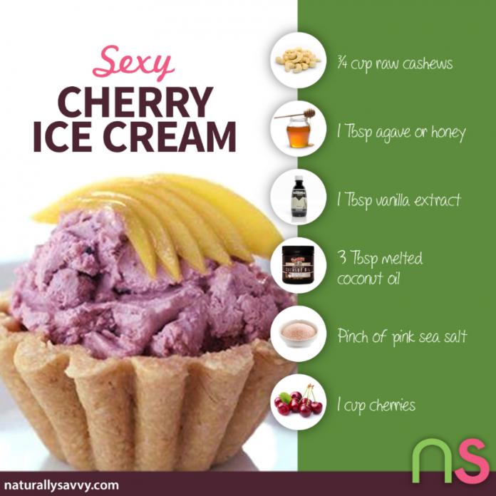 Homemade Cherry Cashew Ice Cream