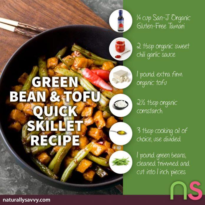 Green Bean and Tofu Quick Skillet Recipe