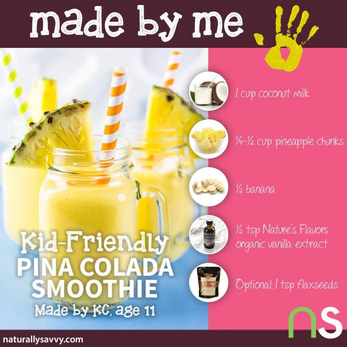 Made by Me: Piña Colada Smoothie Recipe