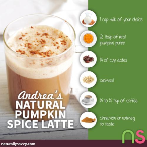 Andrea's Natural Pumpkin Spice Latte Recipe 2