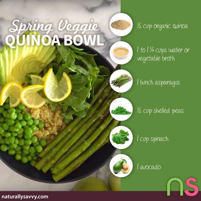 Spring Veggie Quinoa Bowl
