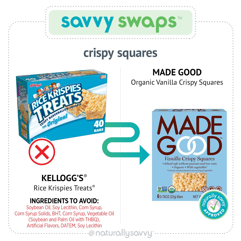 Savvy Swaps Crispy Squares