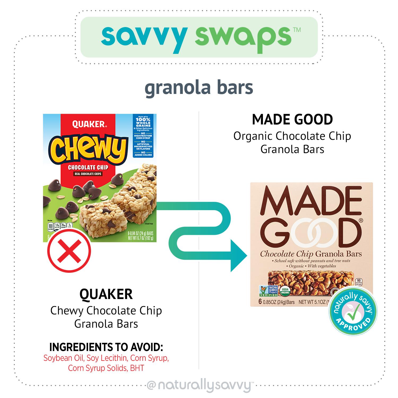 Savvy Swap Granola Bars
