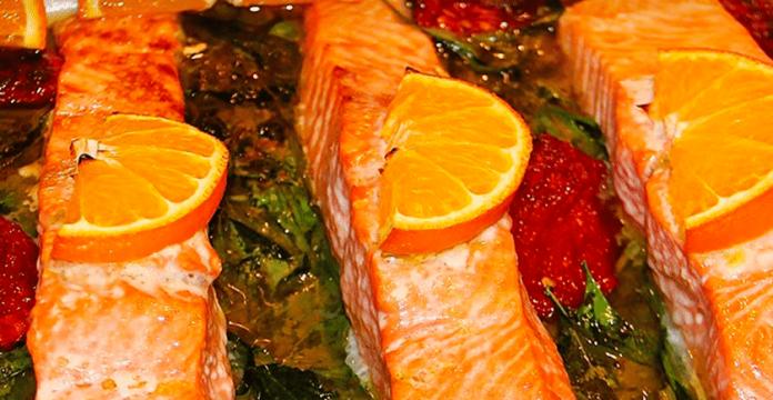 Orange Spinach Wild Salmon Recipe
