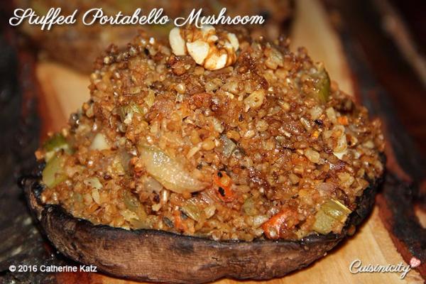 Bulgur Two Ways: Tabbouleh Salad and Stuffed Portobello 3