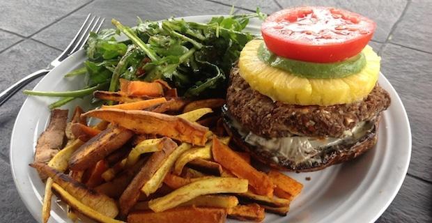 Black Bean and Navy Bean Veggie Burger Recipe