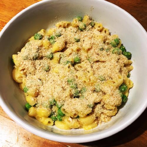 Dairy-Free Butternut Squash Mac and Peas 2