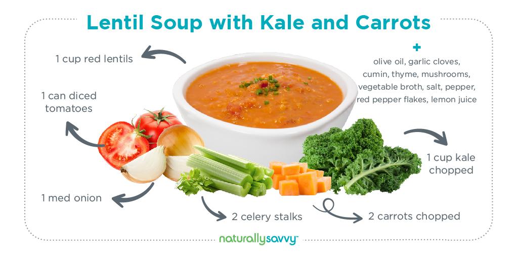 vegan lentil kale soup recipe