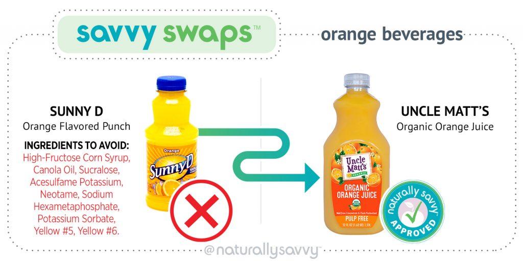savvy swap sunny d orange juice uncle matts