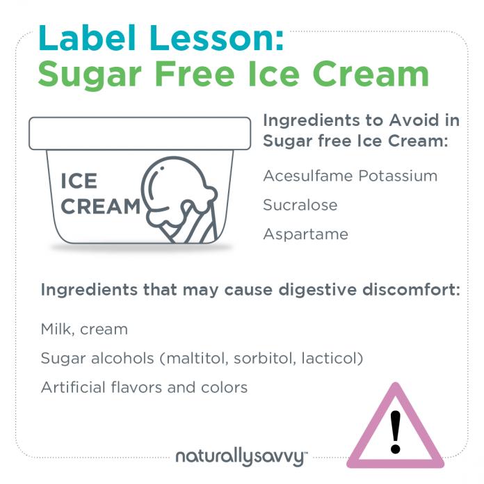 Label Lesson Sugar Free Ice Cream
