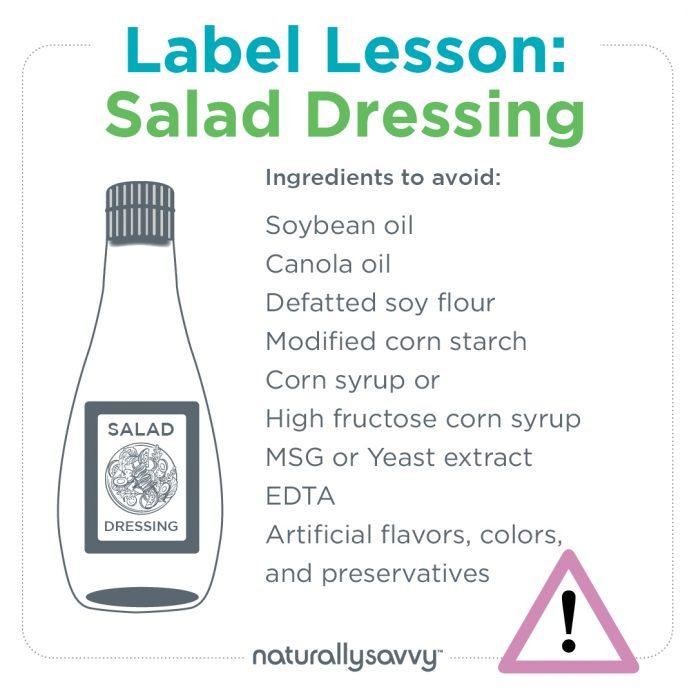 Label Lesson Salad Dressing