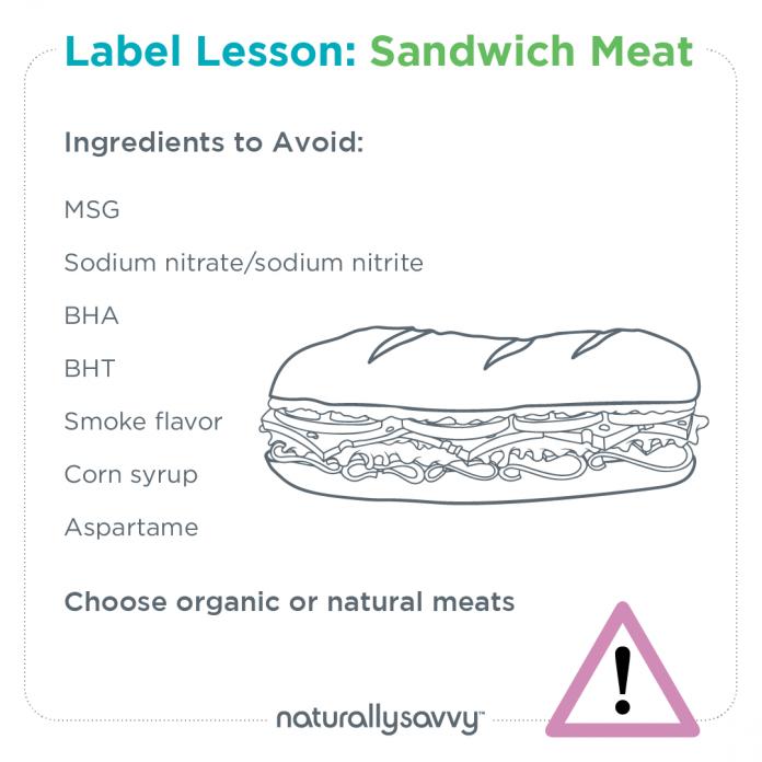 Label lesson sandwich meat