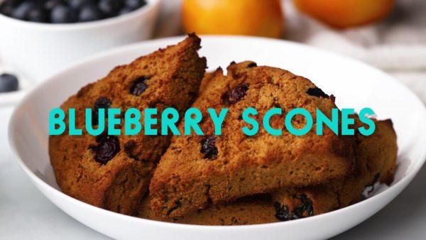 apple flour blueberry scones