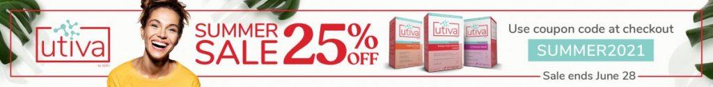 Utiva summer sale 25% off